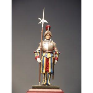 Halberdier with armor