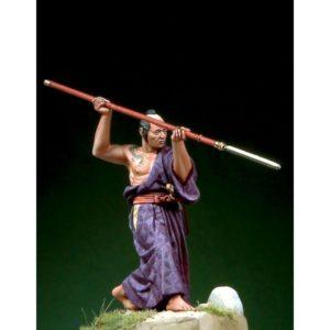 Samurai in Hitatare with Yari (1600-1867)