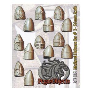 Medioeval Great Helms set 3