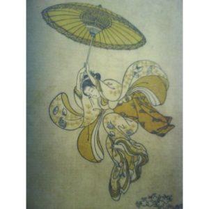 """TEMPLE KIYOMIZU"", after Harunobu (1765)"