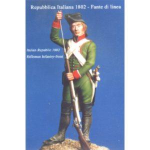 Italian Republic, 1802. Rifleman Infantry-front