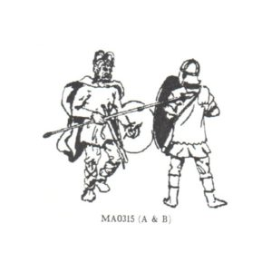 Frankish Warrior and Roman Auxiliary, circa 270AD