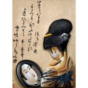 """Girl powdering her neck"""", after Utamaro (1753-1805)"""