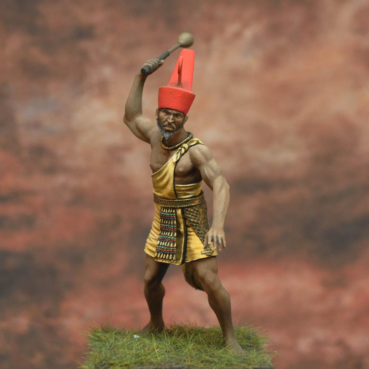 figure Pharaoh of Lower Egypt 54 mm Tin soldier Narmer 3000 BC