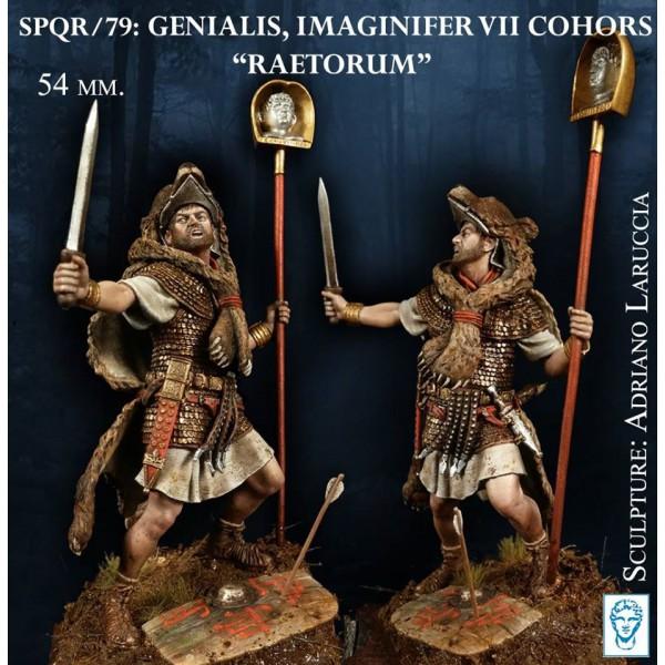 Genialis, Imaginifer VII Cohors Raetorum, 1st Cent. aD.