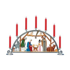 Candle arch with Nativity