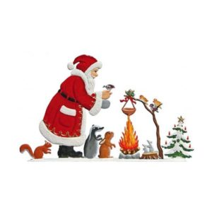 St. Nicholas at the camp fire