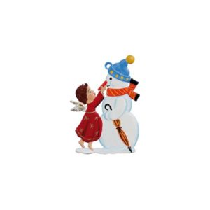 Angel with snowman