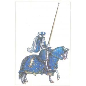 Renaissance knight in Tournament from Emperor Maximilan Time